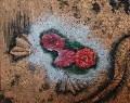 Metallic Embossed Rose 1